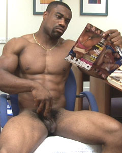 Massive black bodybuilder